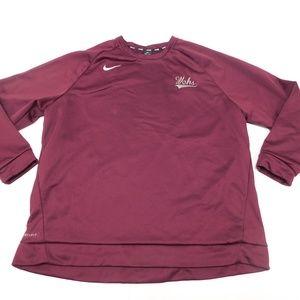 Nike Dri Fit WCHS 3XL Dark Red Crewneck Sweatshirt